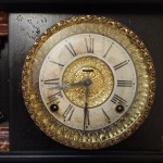 ANTIQUE CARVED WOOD E. Ingraham Clock (2)