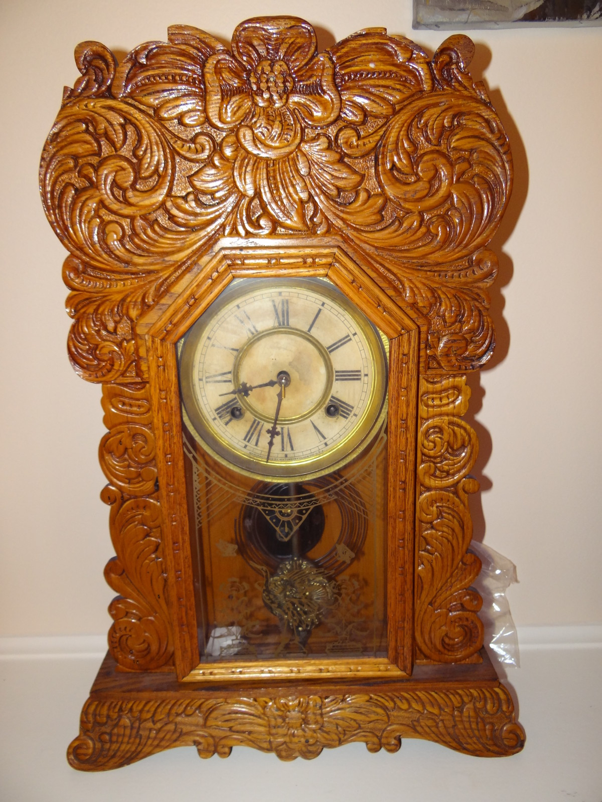 Oak gingerbread clock antiques of america and collectibles for sale